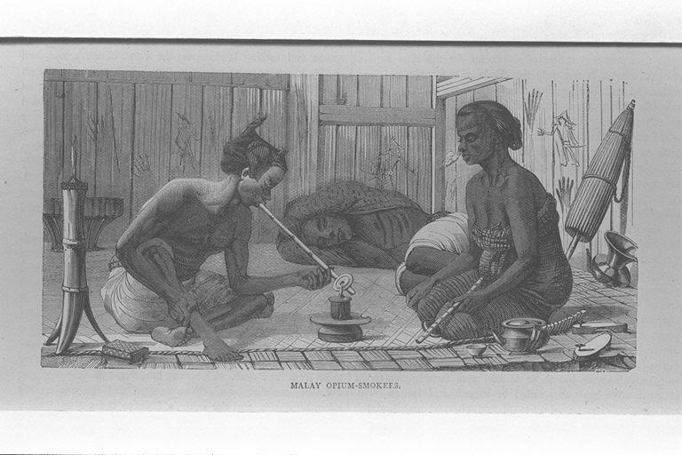 マレーの阿片常用者/(Malay opium-smokers.)